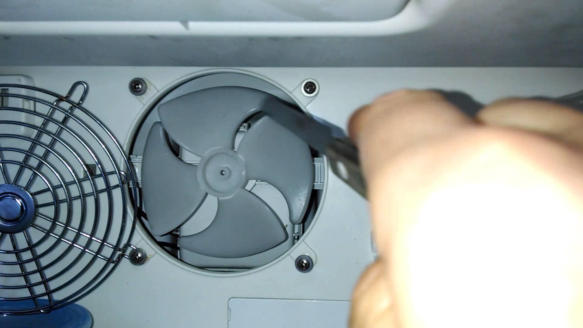 замена вентилятора холодильника